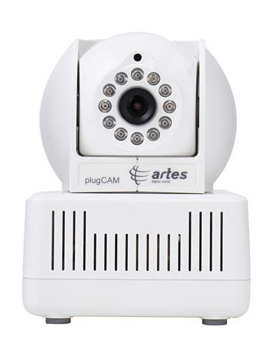 Artes PCQ-500C Elektrik Hattından Tak Çalıştır IP Kamera Beyaz